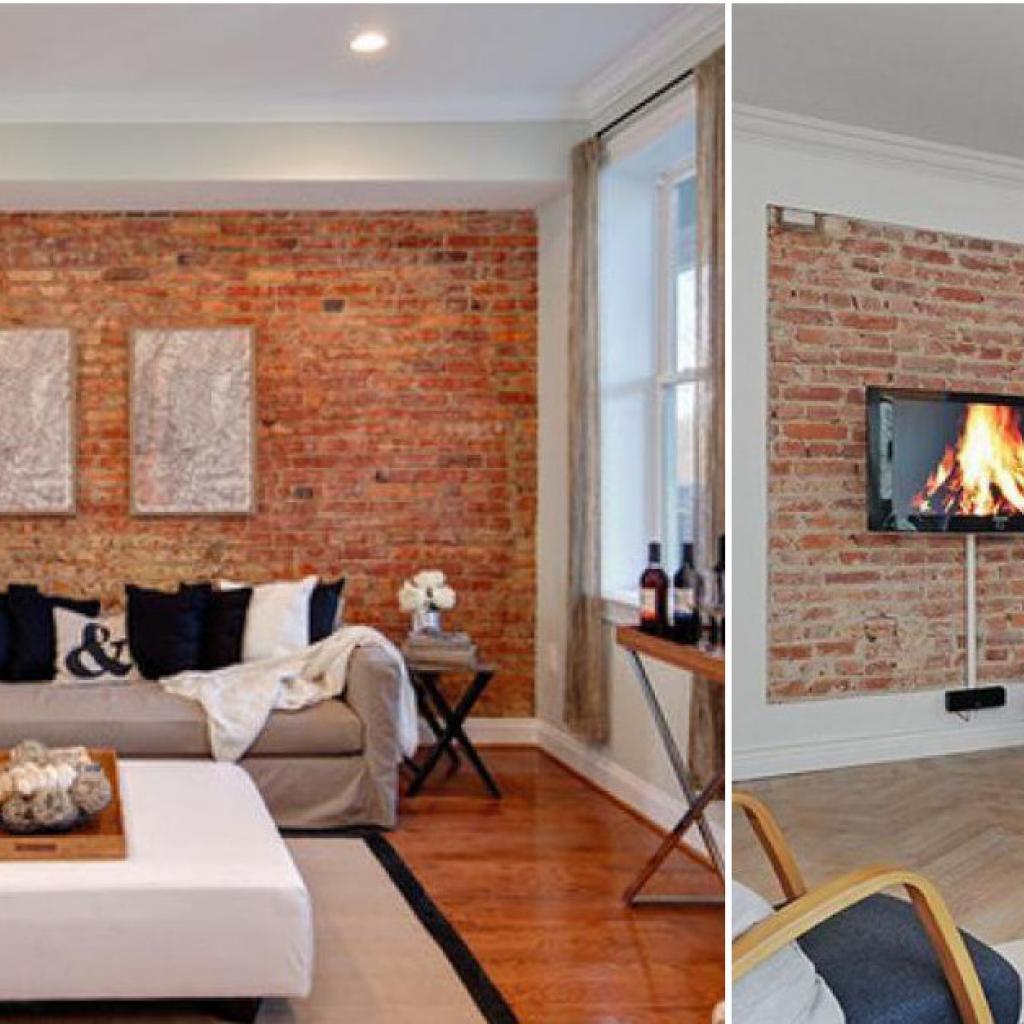 20 D Cors Qui Vous Montrent Comment Int Grer La Brique Rouge Dans  # Mur De Brique Avec Foyer