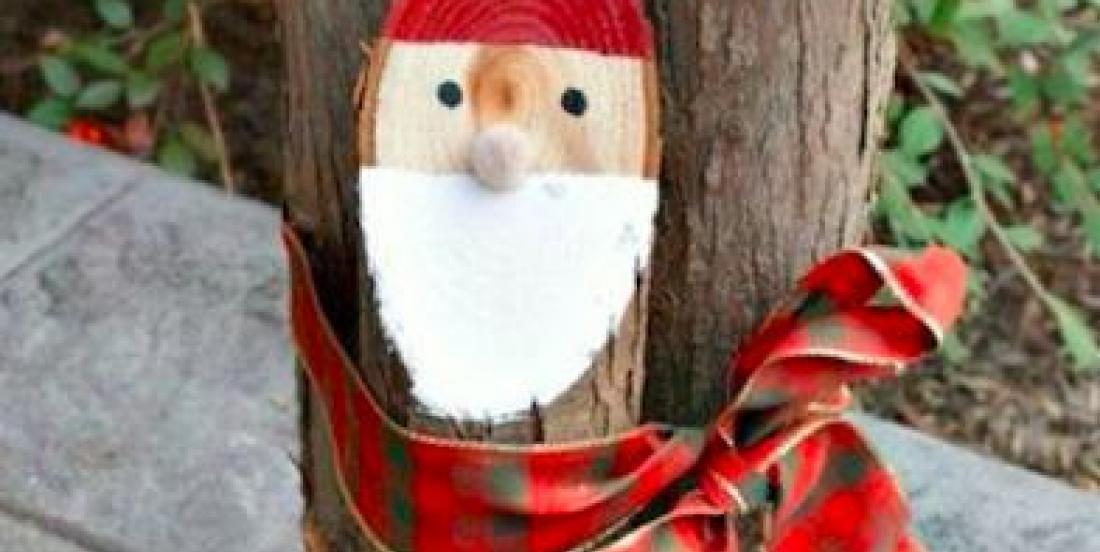 10 décorations de Noël faciles à faire à l'aide de vieilles bûches de bois!