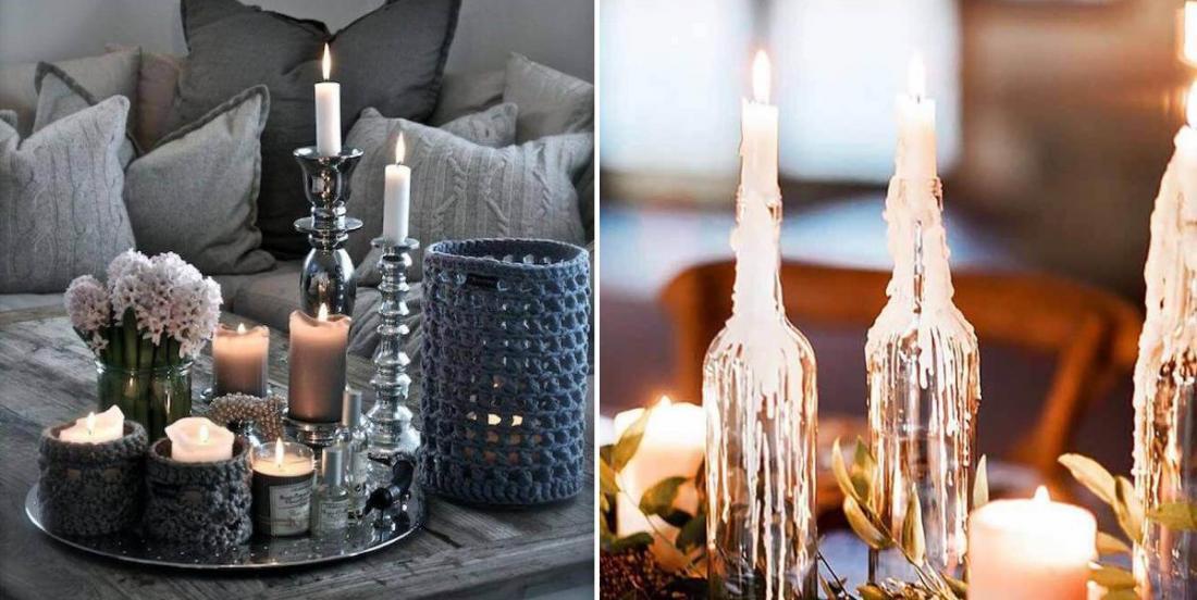 20 arrangements à faire avec des bougies pour décorer chaque pièce de la maison