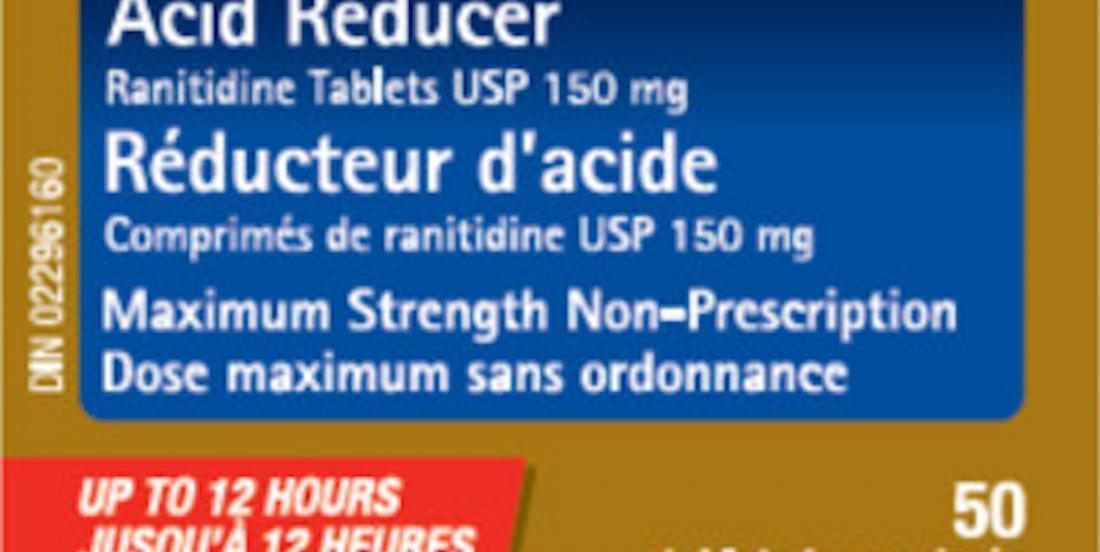 Après le Zantac, Santé Canada élargit son rappel de médicaments contenant de la ranitidine