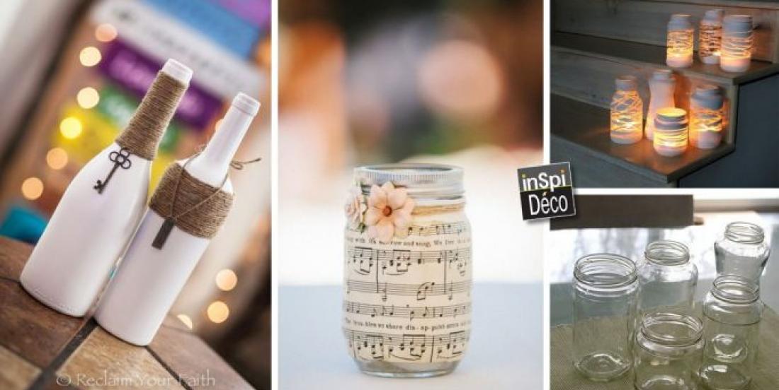 20 façons de recycler de vieux objets en verre pour en faire de jolies décorations