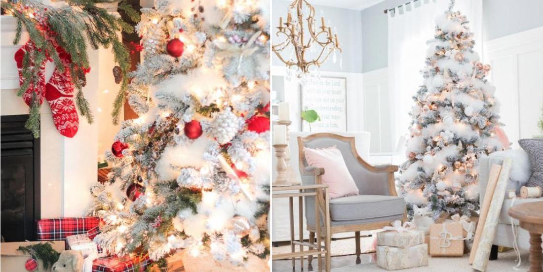 14 modèles de sapins de Noël enneigés pour vous inspirer le vôtre