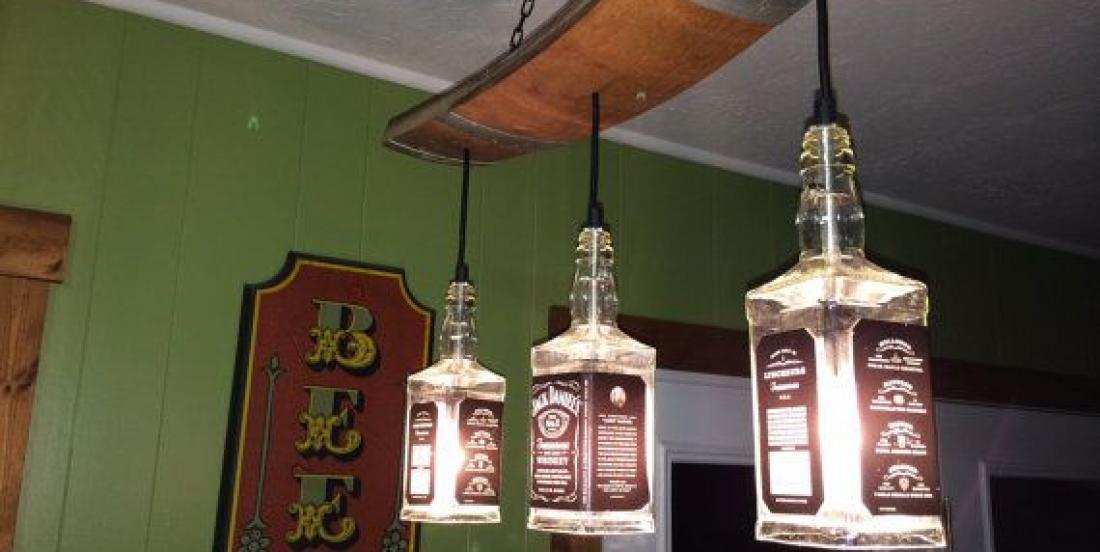 14 décorations originales à fabriquer à partir de bouteilles de Jack Daniels