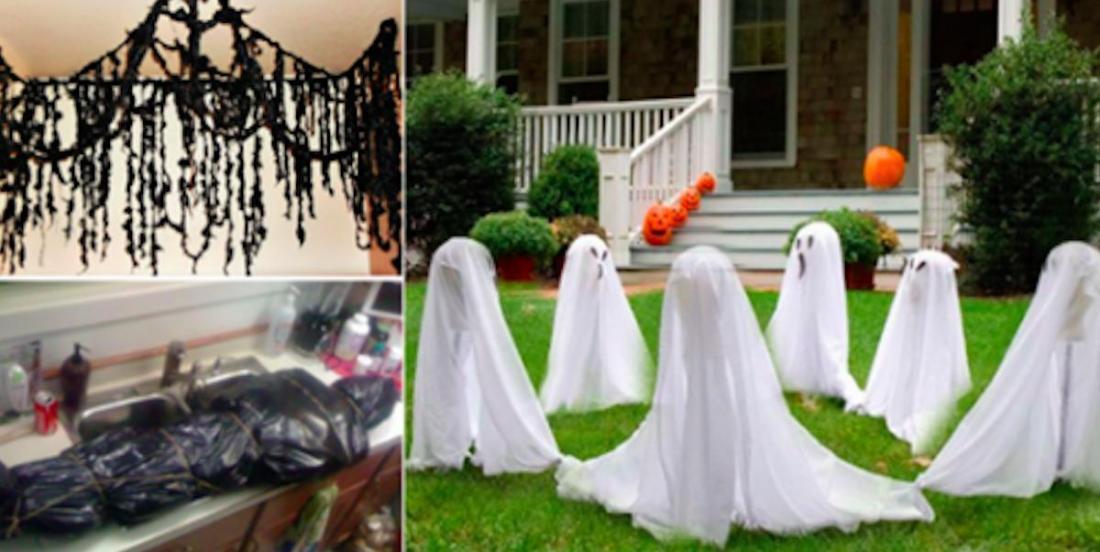 13 idées de décorations d'Halloween à fabriquer à partir de simples sacs-poubelle