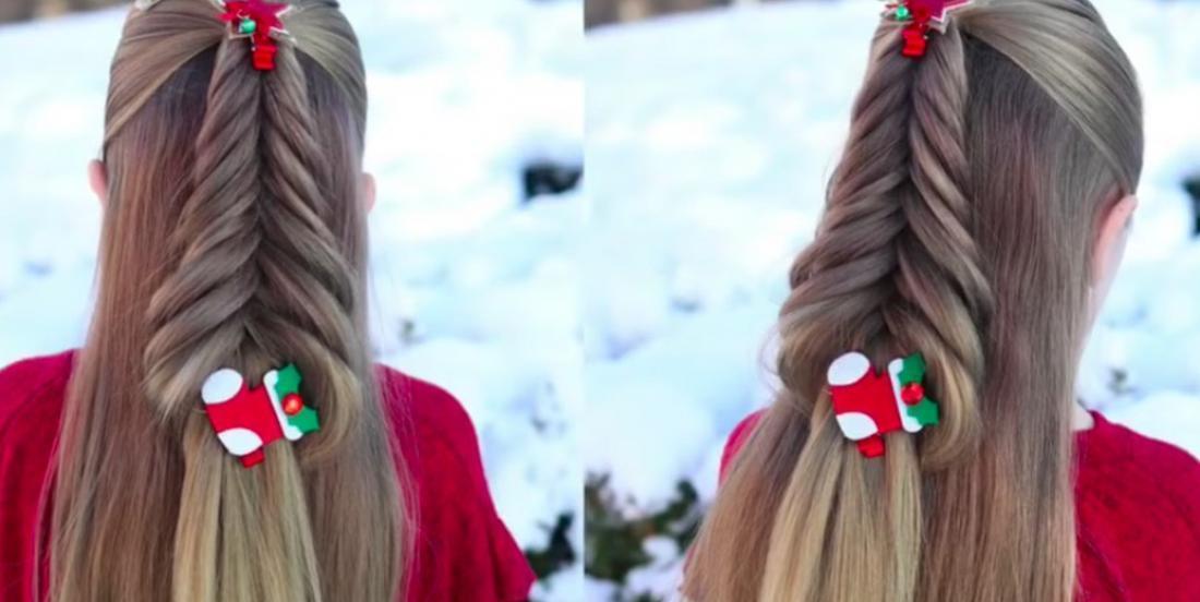Tutoriel coiffure qui vous montre comme réaliser cette tresse festive