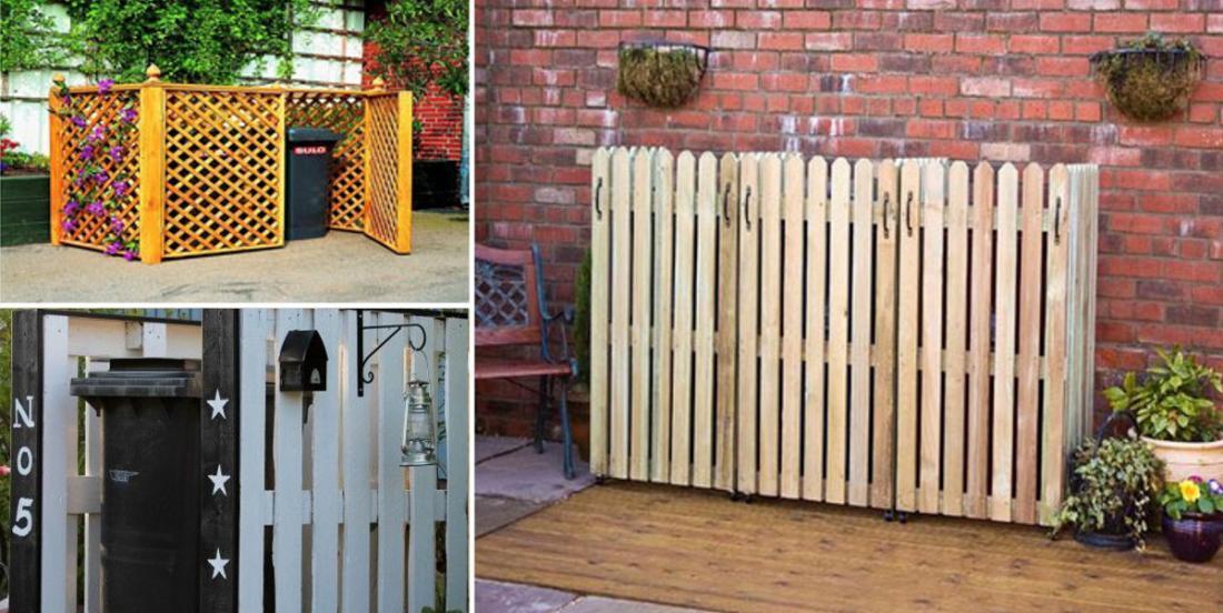 14 idées pour dissimuler les conteneurs de poubelles et de recyclage dans votre jardin!
