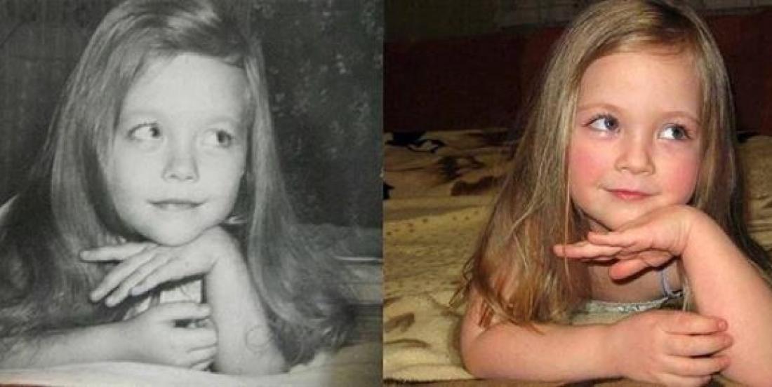 24 photos incroyables de parents et de leurs enfants au même âge