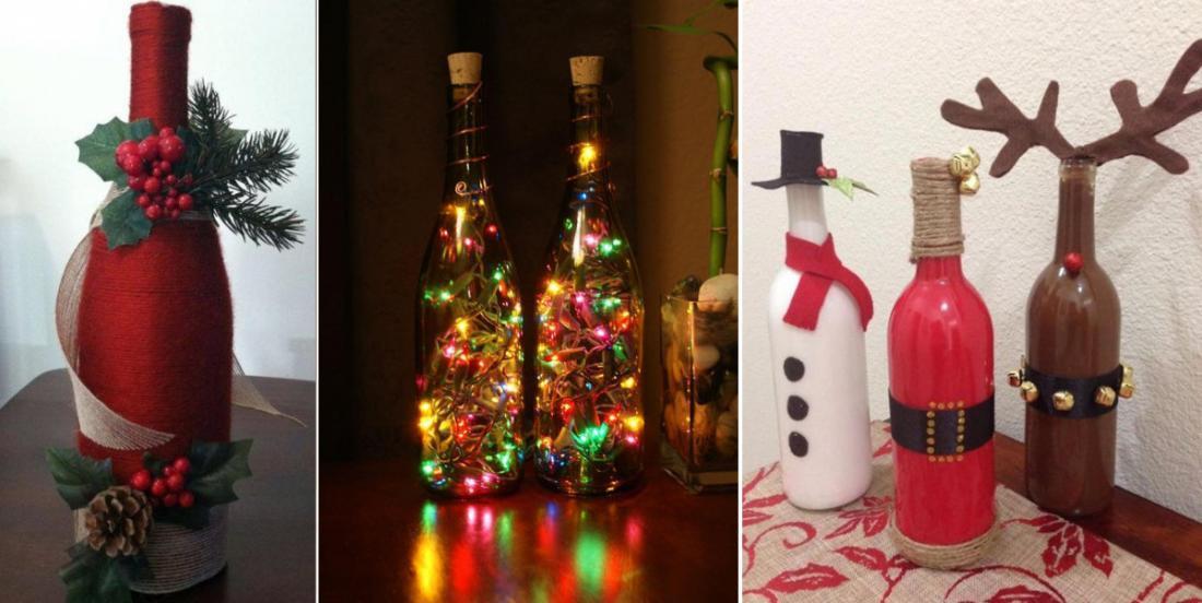 21 décorations de Noël à faire avec des bouteilles de vin!