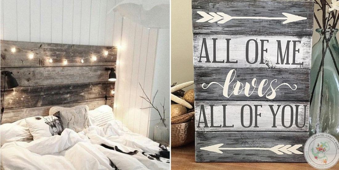 16 idées inspirantes pour décorer la maison en récupérant le vieux bois