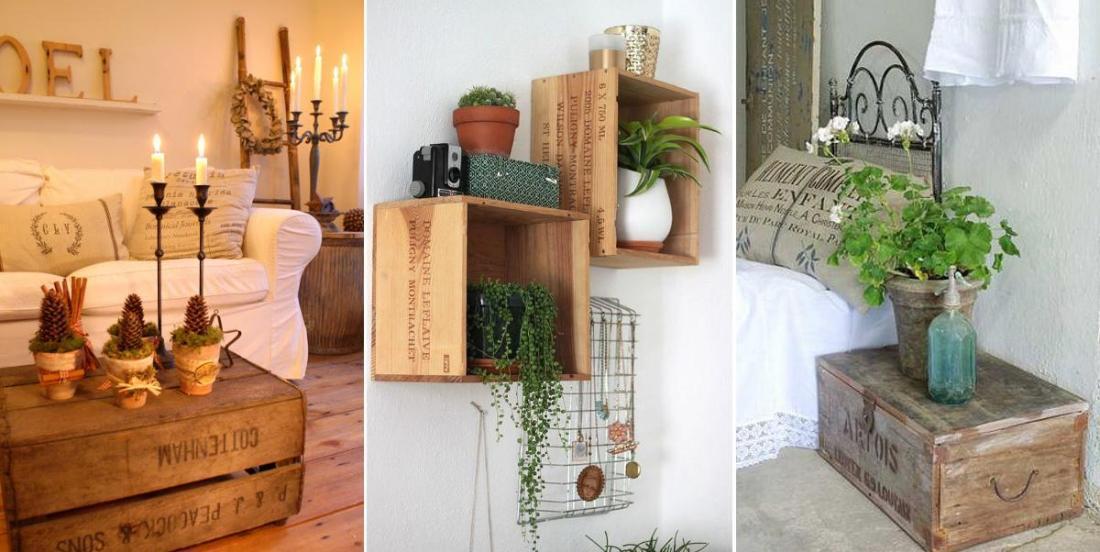 20 idées créatives pour décorer votre maison avec des caisses de vin