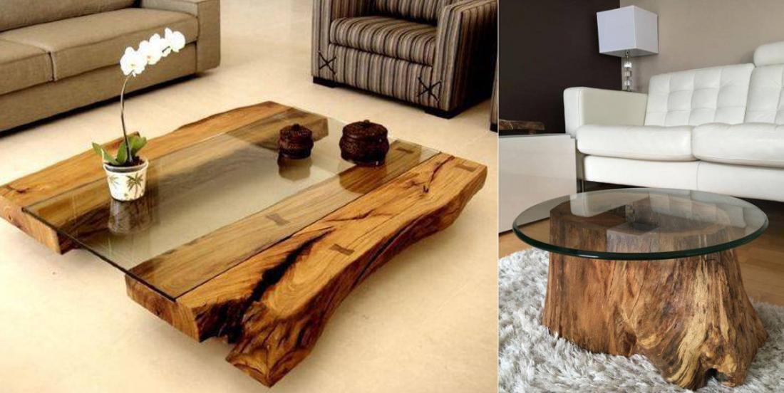 14 modèles de table basse en bois brut qui vous inspireront