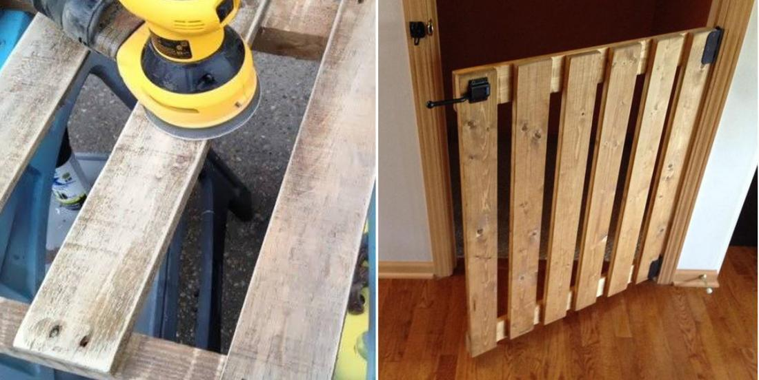 4 modèles de barrière de sécurité fabriquée à partir de palettes de bois