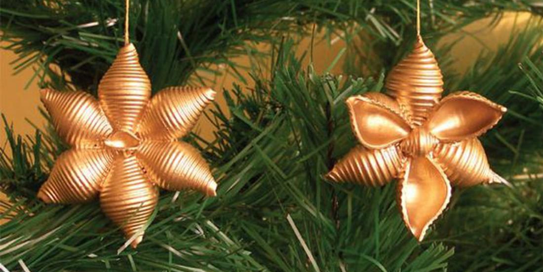 20 idées créatives pour décorer le sapin de Noël avec des pâtes alimentaires