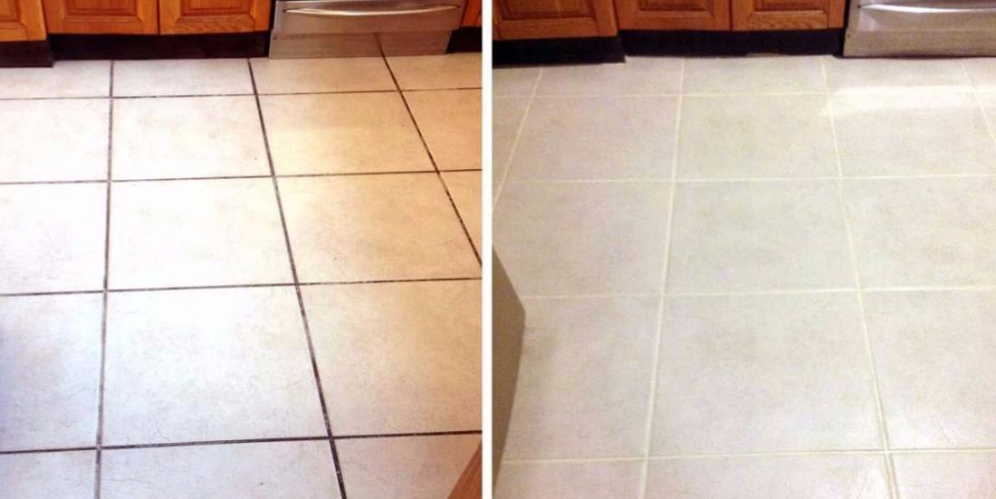 Une astuce pour nettoyer les joints de plancher devenus tout noirs
