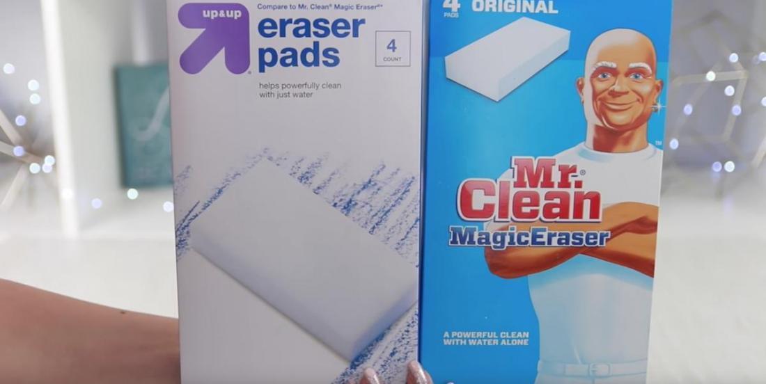 Voici plusieurs types de taches récalcitrantes lavables avec une éponge magique de Monsieur Net!