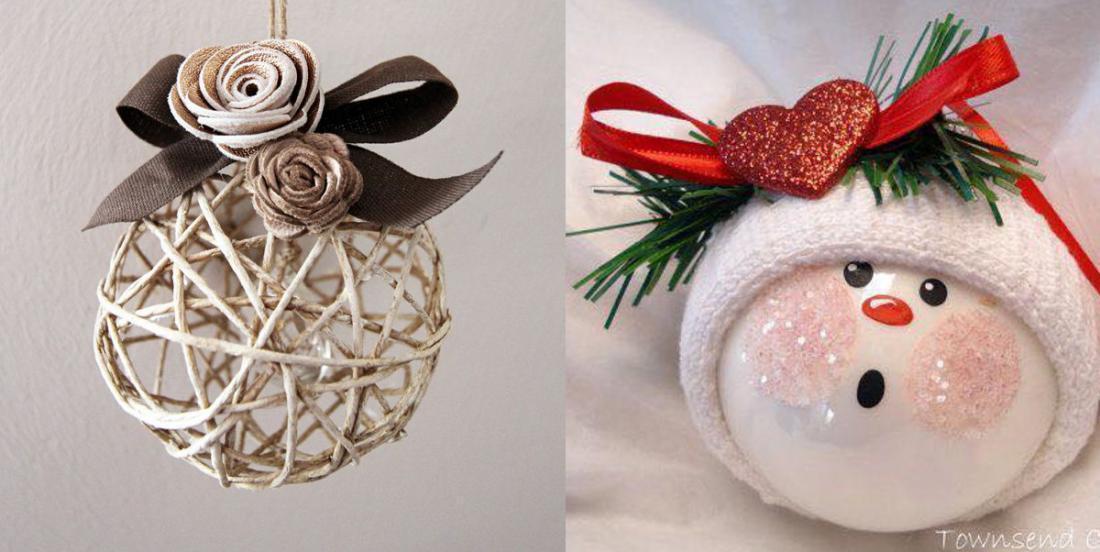 20 modèles de boules de Noël à bricoler pour décorer votre sapin