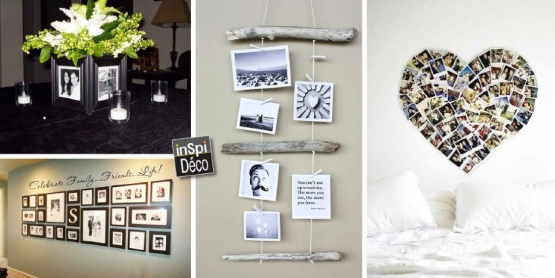 20 façons de décorer votre maison de manière originale avec vos photos!