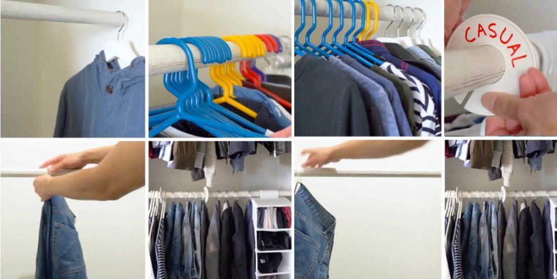 7 astuces simples pour optimiser le rangement dans un garde-robe!