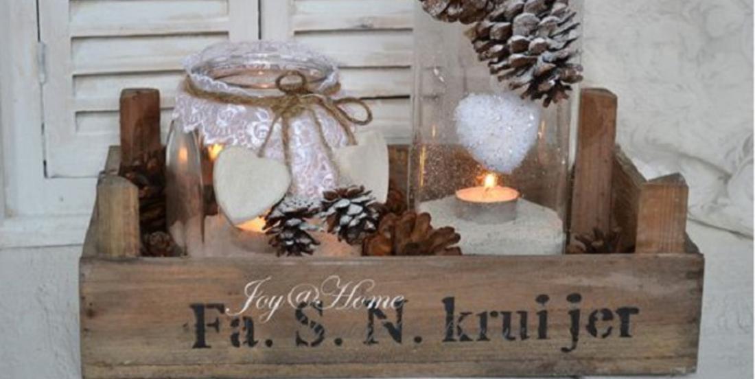 12 merveilleuses décorations de d'hiver ou de Noël à faire avec de vieilles caisses en bois!