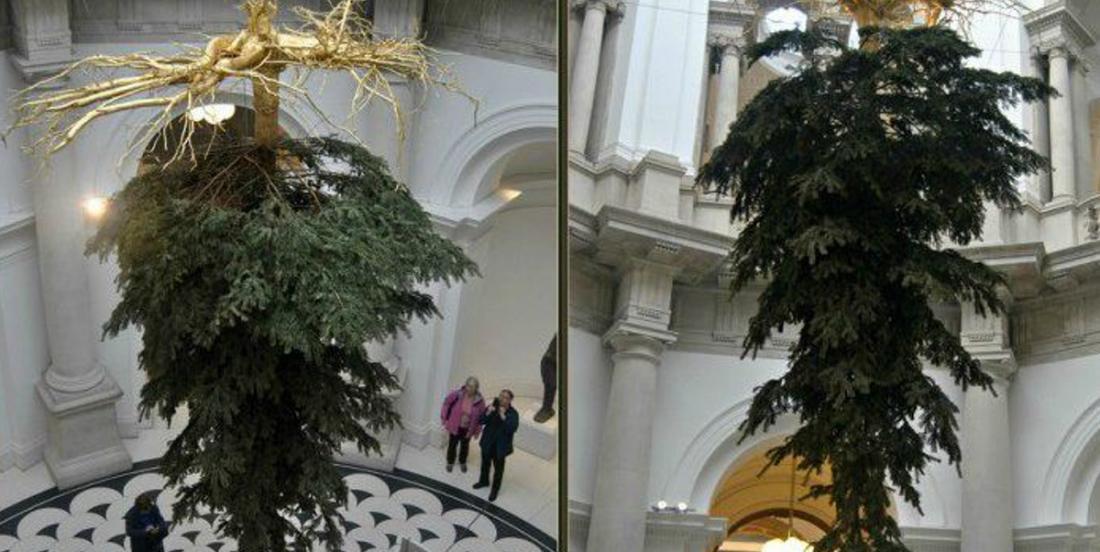 Quelle est la signification derrière la tendance des sapins de Noël à l'envers?
