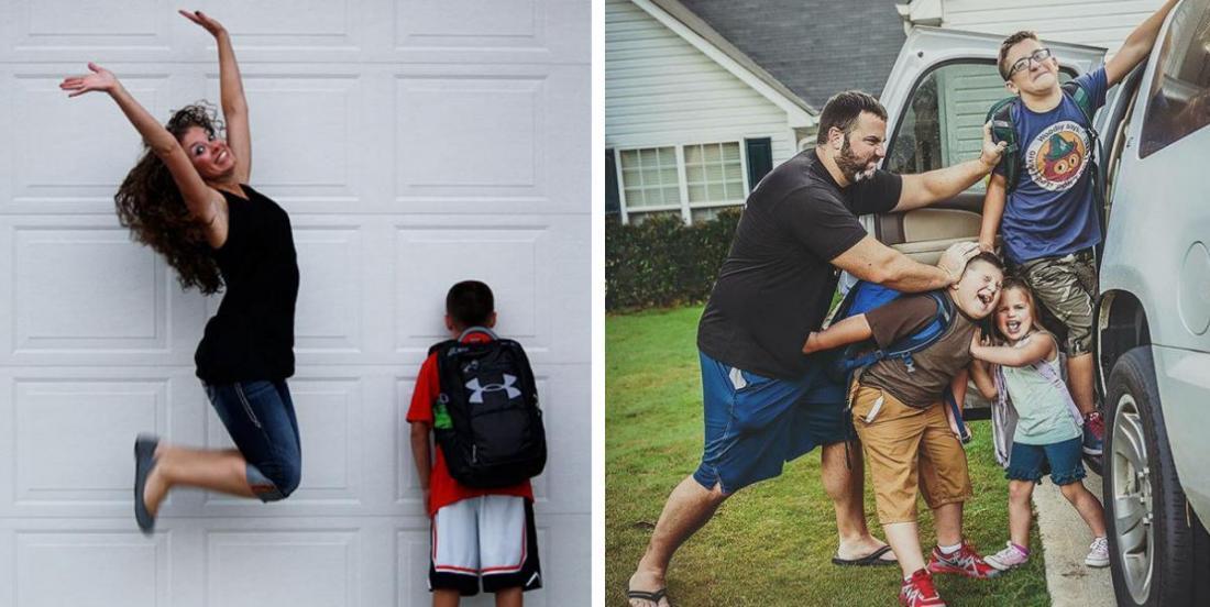 """Ces 27 photos montrent à quel point les parents sont """"malheureux"""" que leurs enfants retournent en classe"""