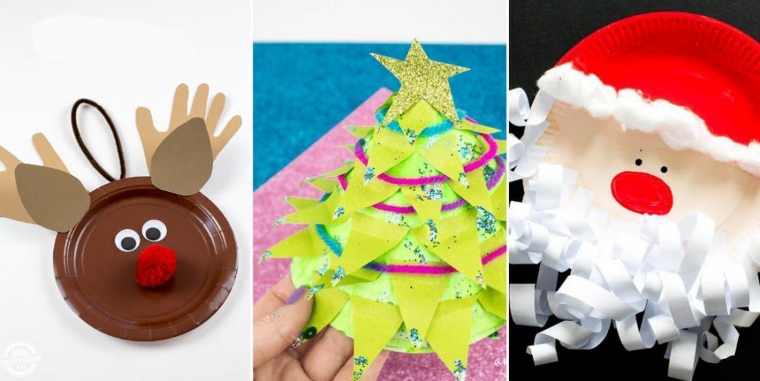 17 fabuleux bricolages d'hiver et de Noël à faire avec les enfants à partir d'assiettes en carton!