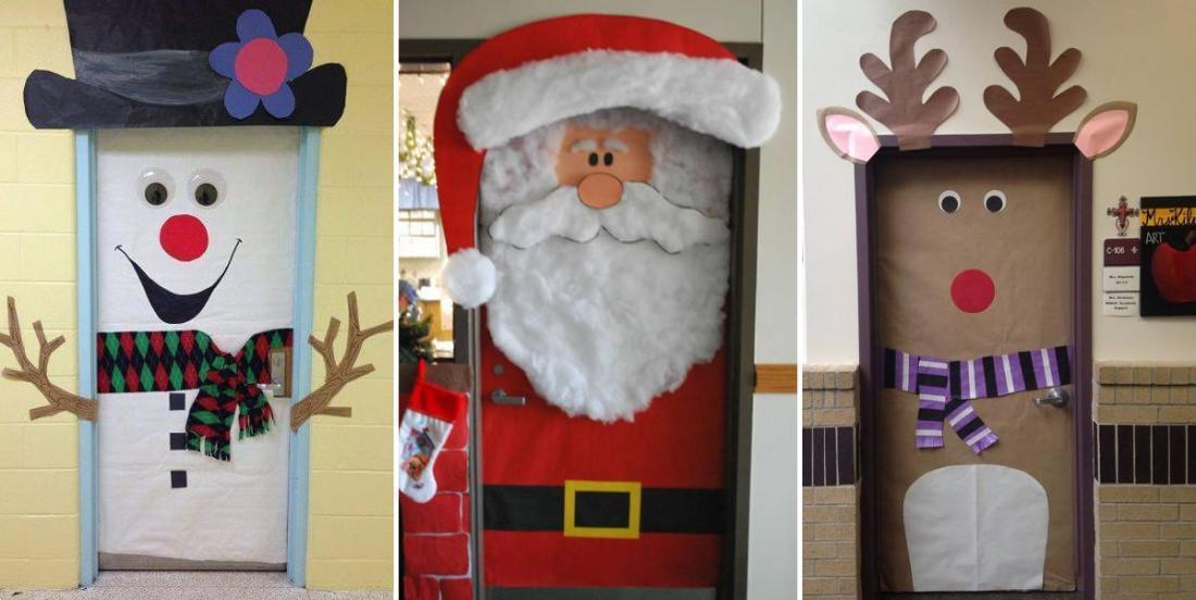 10 façons différentes de décorer votre porte pour le temps des fêtes