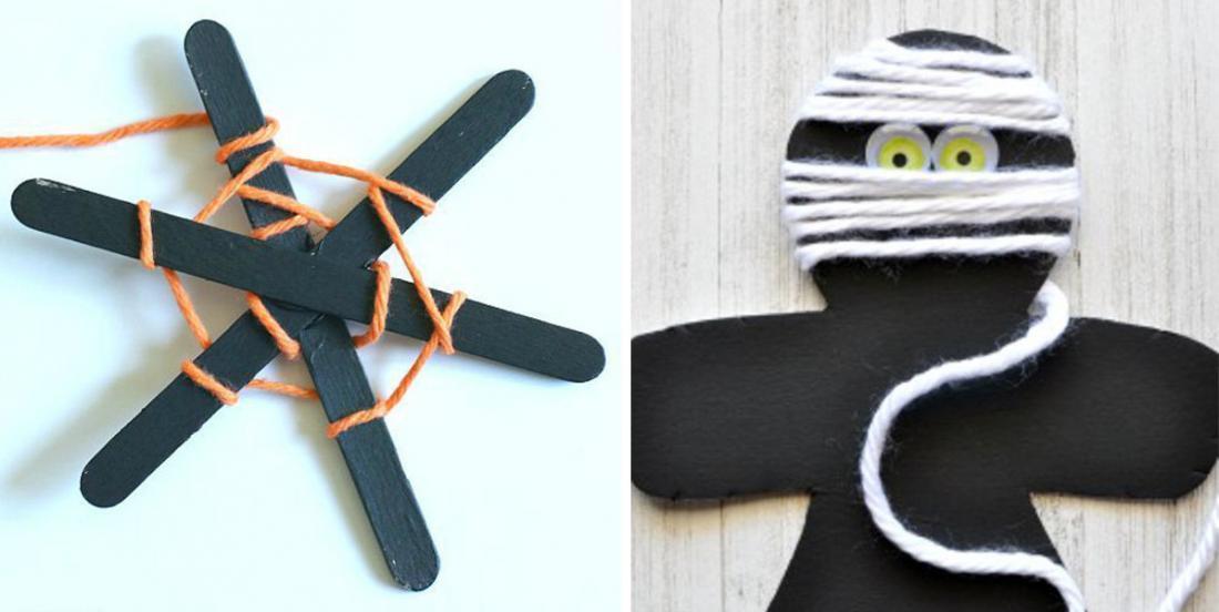Voici 6 adorables bricolages d'Halloween à faire avec les enfants pour célébrer la Fête d'Halloween!