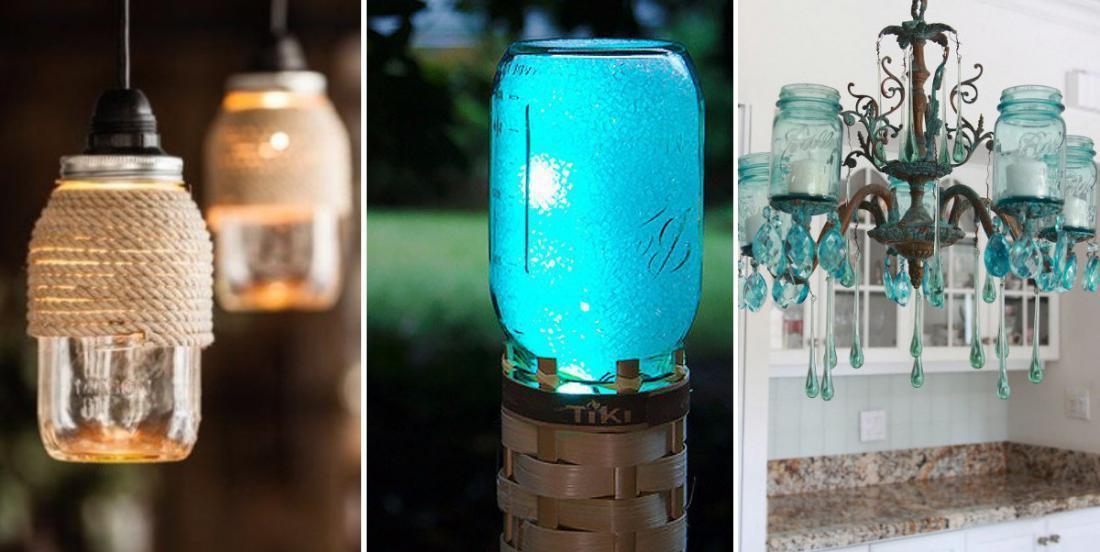 20 idées pour créer un éclairage design à partir de pots Mason