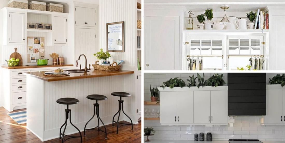 Décorez brillamment le dessus de vos armoires de cuisine avec ces 15 idées élégantes