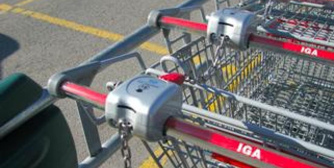 2 astuces pour prendre un panier à l'épicerie sans monnaie ni jeton