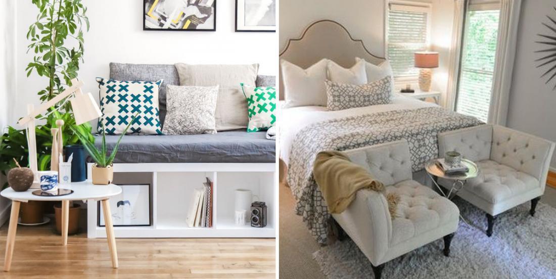 20 charmantes façons de décorer un pied de lit pour créer une belle ambiance