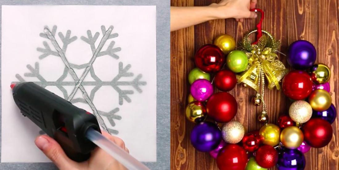 3 décorations de Noël super simples à bricoler en moins de 5 minutes chacune!