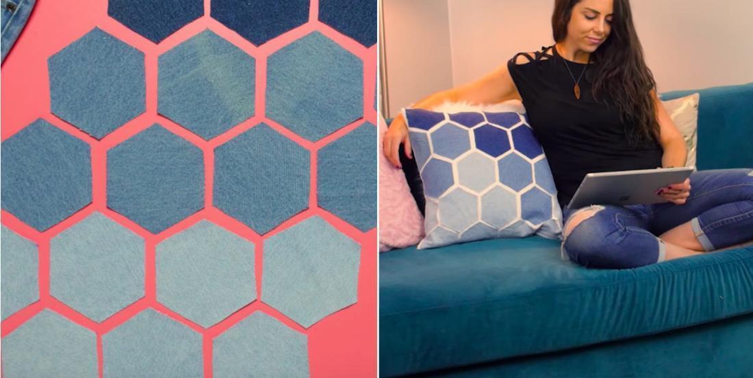 Récupérez vos jeans pour fabriquer un coussin design sans couture!