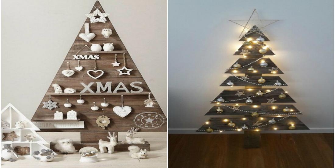 Les plus jolis sapins de Noël fabriqués à l'aide de palettes de bois