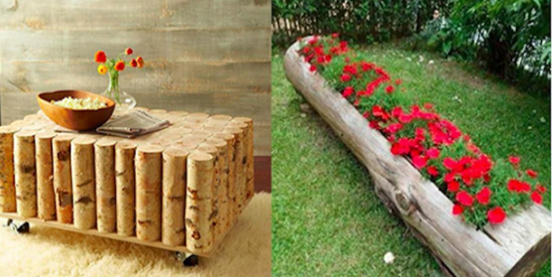 14 idées à réaliser soi-même à partir de troncs d'arbres.