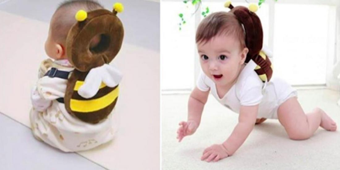 Ces « sacs à dos » pour bébés sont trop mignons et protègent les petites têtes fragiles