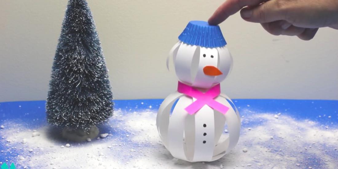 Bricolez un merveilleux bonhomme de neige en 3D avec les enfants