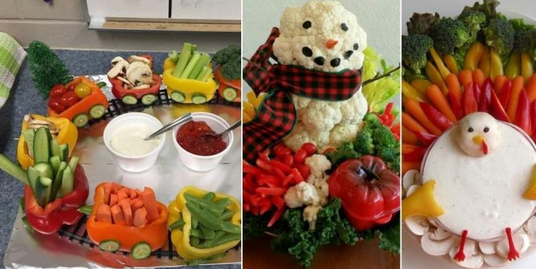 14 magnifiques plateaux de légumes faciles à monter pour vos repas des fêtes