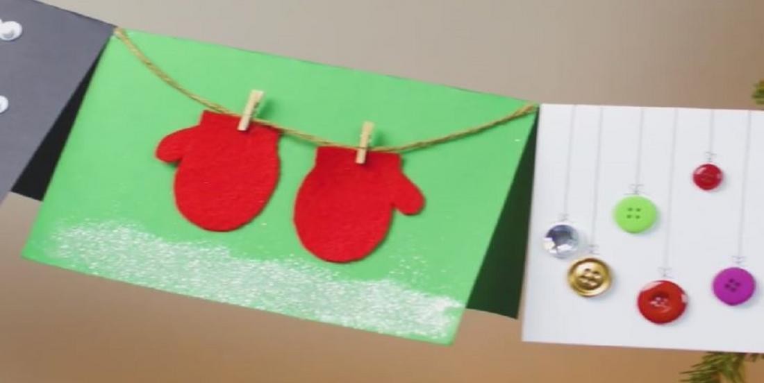 Soyez créatif cette année et bricolez les cartes de Noël que vous offrirez!