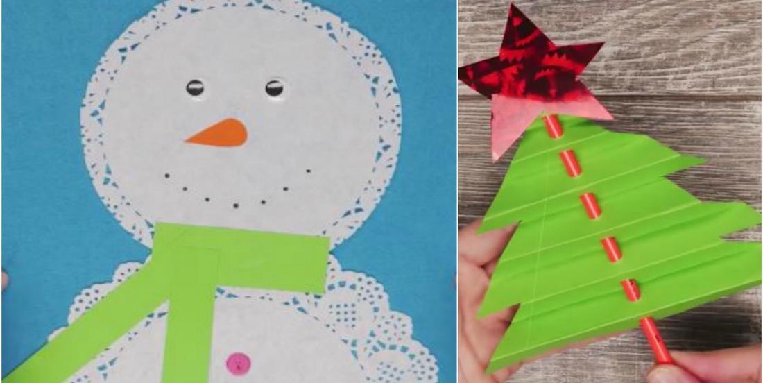 4 bricolages de Noël fabriqués à partir de papier et faciles à réaliser