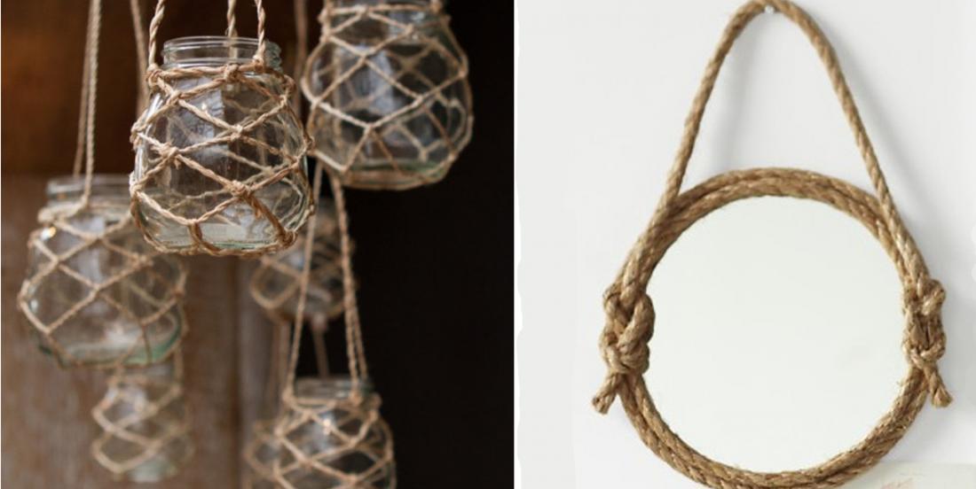 14 idées déco à faire soi-même avec de la corde pour créer une ambiance une unique à la maison!