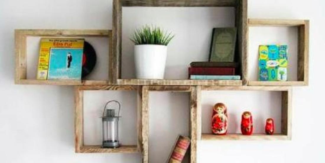 9 façons originales de fabriquer des étagères à partir de vieux morceaux de bois!