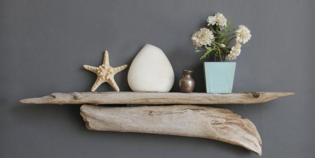 Étagère en bois flotté : 12 inspirations plus jolies les unes que les autres!