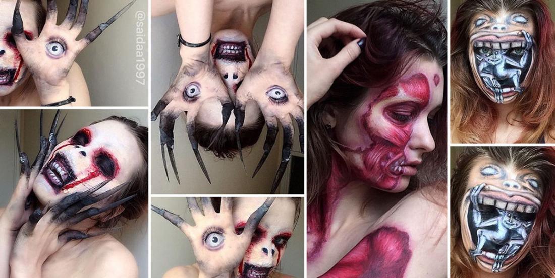 Avec ces 17 maquillages hallucinants, tu augmenteras considérablement tes chances de gagner un prix le soir de l'Halloween!