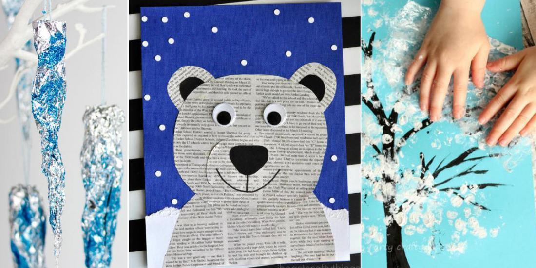 12 beaux bricolages d'hiver à faire avec les enfants!