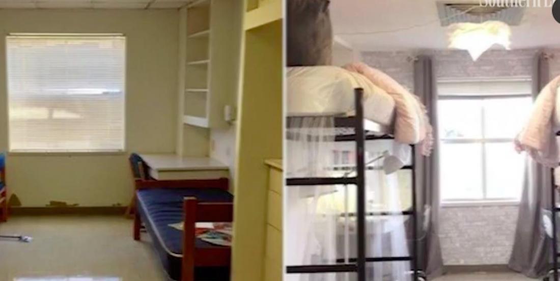 Deux jeunes filles offrent une métamorphose sensationnelle à leur vieux dortoir d'université!