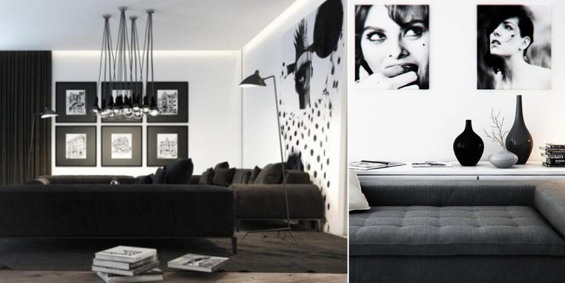 20 décors de salon noir et blanc qui vous inspireront grandement