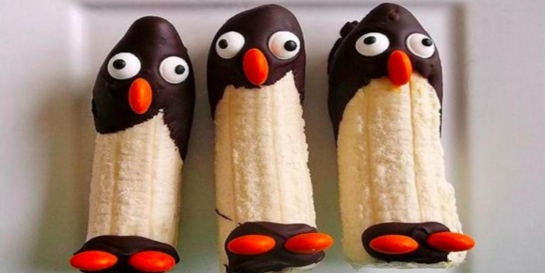 Transformez vos bananes en pingouins chocolatés inspirés du film Madagascar