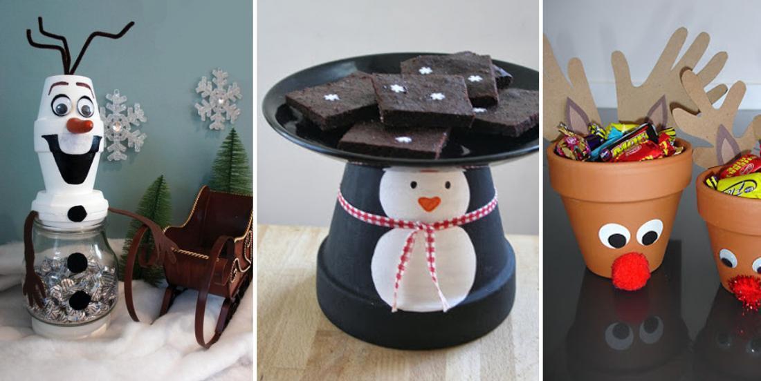 17 façons créatives d'utiliser les pots en terre cuite pour décorer pour Noël